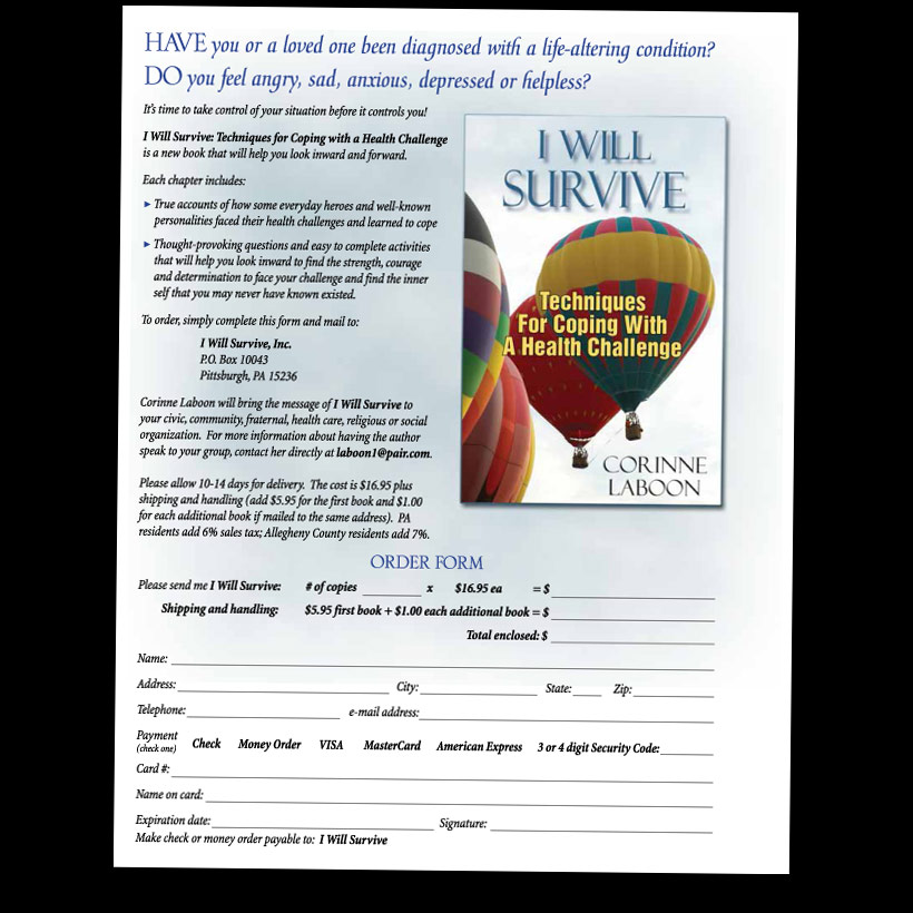 I Will Survive - flyer