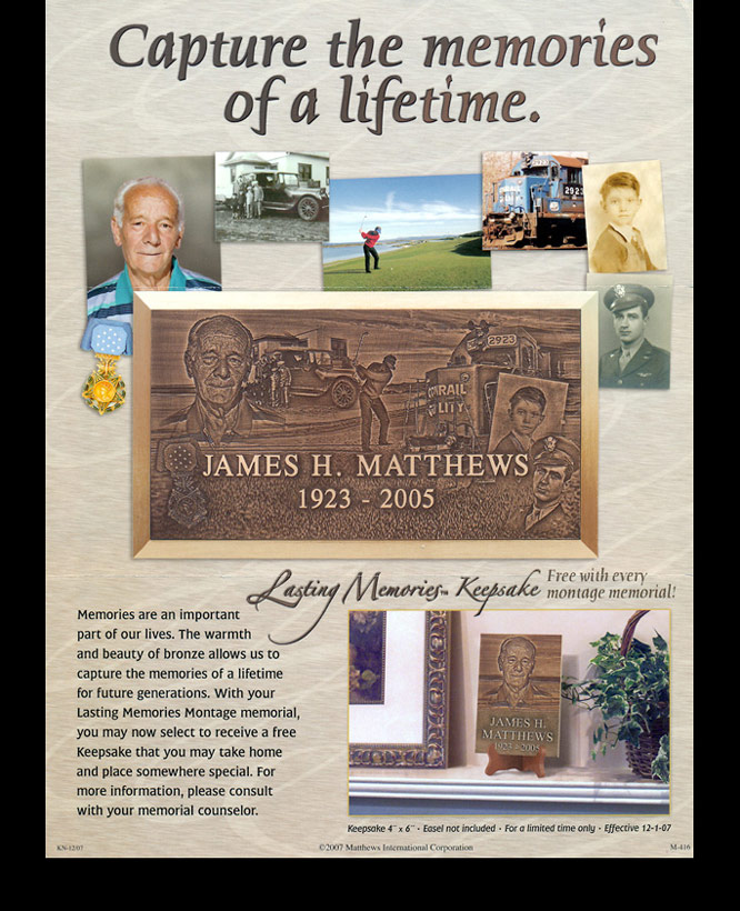 Matthesws Lasting Memories - flyer and ad