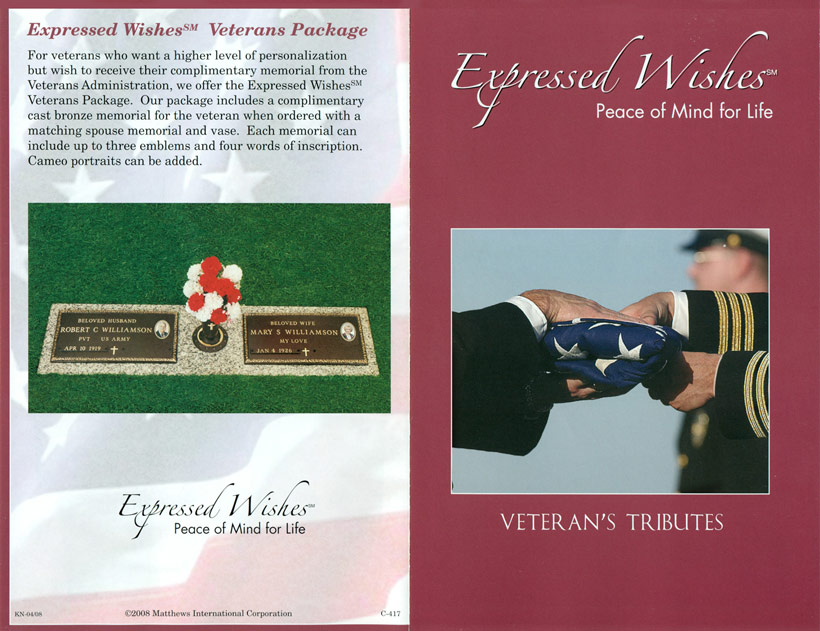 Expressed Wishes - Veteran's