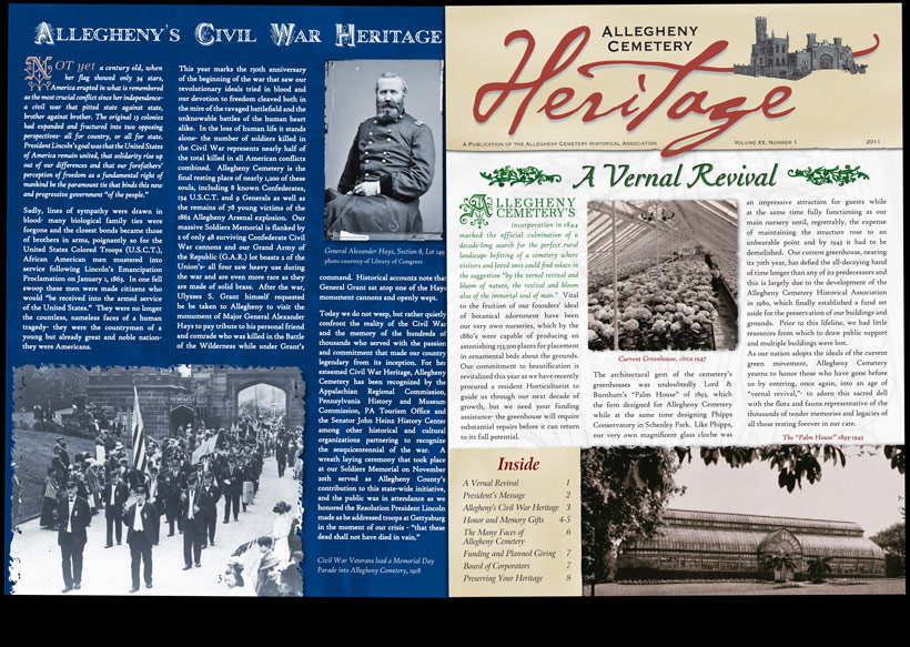 Allegheny Cemetery - Heritage Newsletter 2011